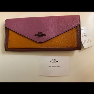 Brand New Coach Soft Wallet in Color Block